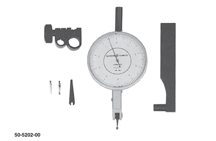 """Group 1 Dial Test Indicator: .533"""" Long Stylus (2"""" Dial Dia.)"""