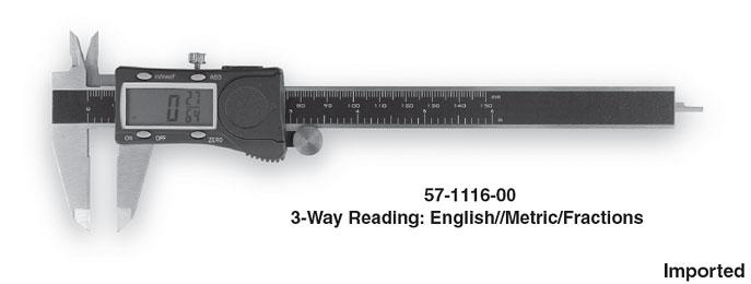 Group 1 3-Way Reading Electronic Digital Caliper