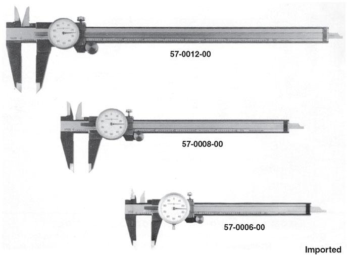Group 1 One-Revolution Dial Calipers