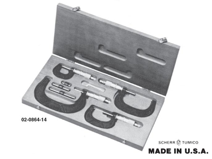Group 1 Solid Frame Micrometers Sets