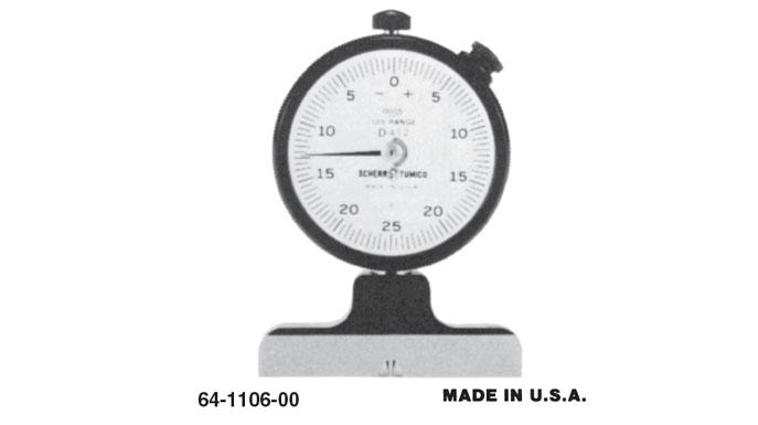 Group 1 Knife Edge Dial Depth Gage